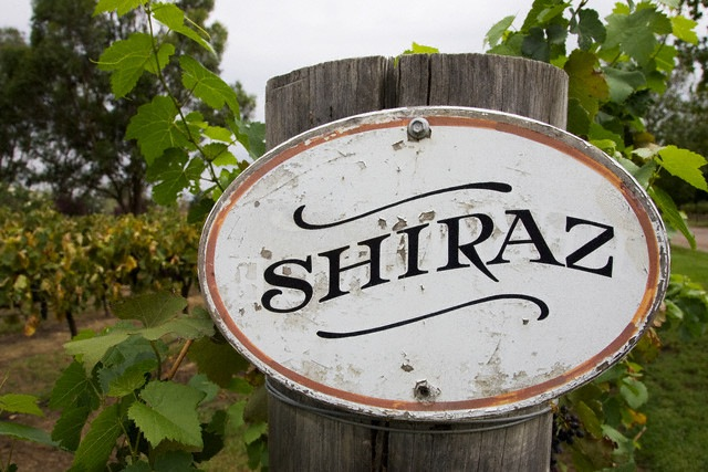 Sign for Shiraz Grapes