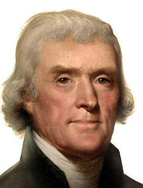 Official presidential portrait of Thomas Jefferson by Rembrandt Peale