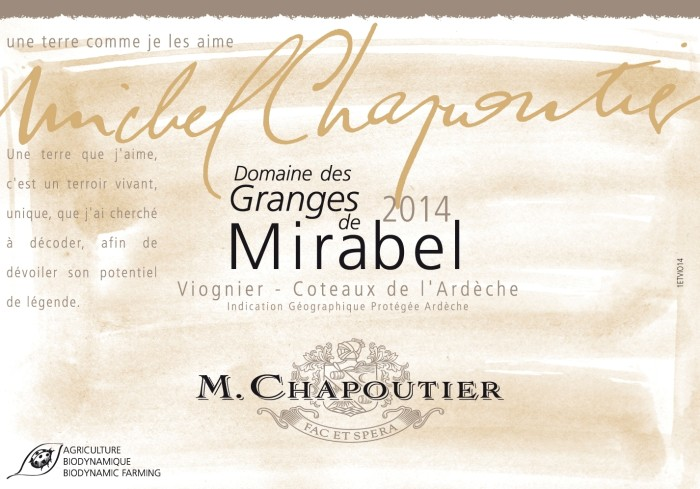 Label Granges de Mirabelle 2014