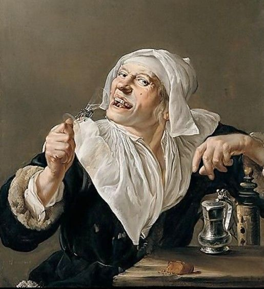 Staverinus_An-old-woman-drinking-from-a-wine-glass2